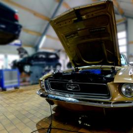 american cars, mustang, reparatur